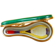 Limoges Imports Tennis Racquet In Case Limoges Box