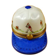 Limoges Imports Baseball Hat W/ Batters Limoges Box