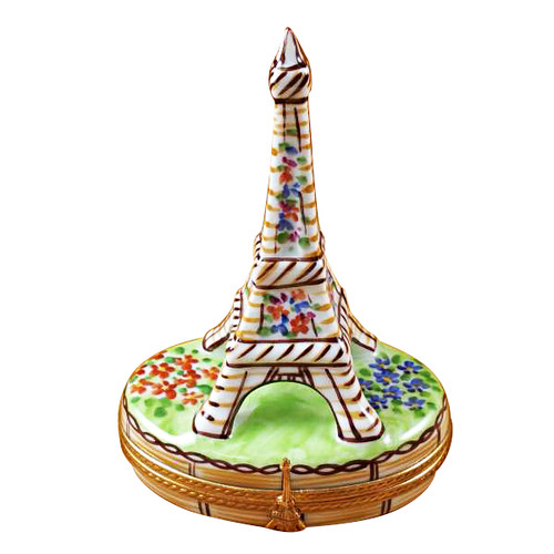 Limoges Imports Brown Eiffel Tower Limoges Box