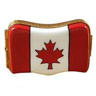 Limoges Imports Canadian Flag Limoges Box