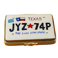 Limoges Imports Texas License Plate Limoges Box