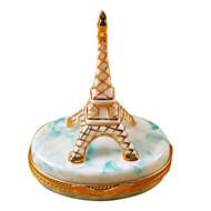 Limoges Imports Eiffel Tower Blue Base Limoges Box