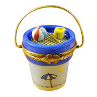 Limoges Imports Beach Bucket W/Tools Limoges Box