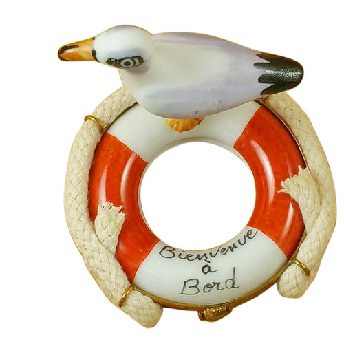Limoges Imports Seagull On Buoy Limoges Box