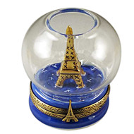 Limoges Imports Eiffel Tower In Globe Limoges Box