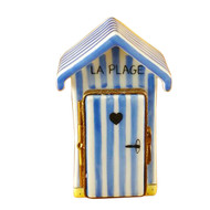 Limoges Imports Beach Changing Hut-French Limoges Box