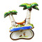 Limoges Imports Palm Trees W/Hammock Limoges Box