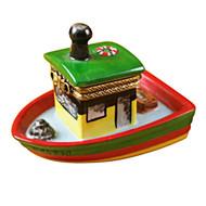 Limoges Imports Tug Boat Limoges Box