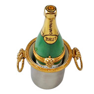 Limoges Imports Champagne In Bucket Limoges Box