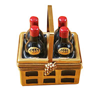 Limoges Imports 4 Pack Of Red Wine Limoges Box
