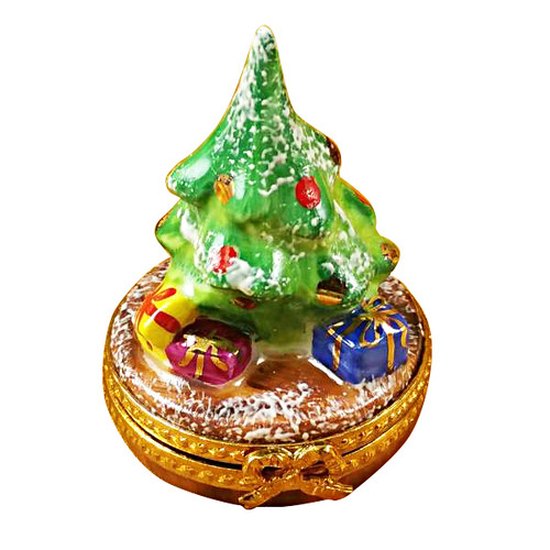 Limoges Imports Tiny Christmas Tree Limoges Box