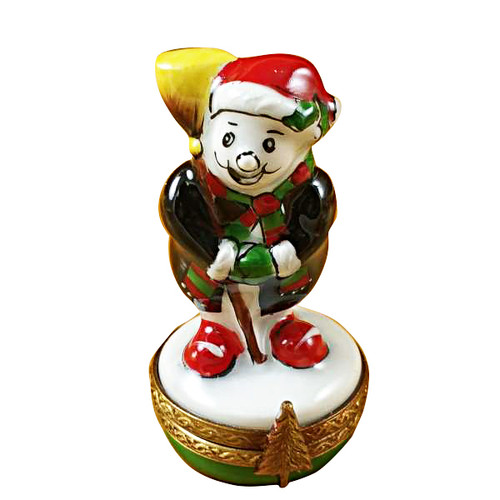 Limoges Imports Small Laughing Snowman Limoges Box