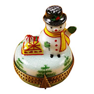 Limoges Imports Small Snowman Limoges Box