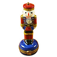 Limoges Imports Nutcracker On Blue Base Limoges Box