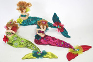 Katherine's Collection Mermaid Bean Bag Dolls Set of 3
