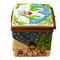 Limoges Imports Christmas Cube W/Snowman On Spring Limoges Box