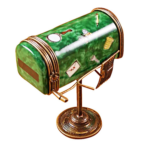 Limoges Imports Green Mail Box Limoges Box
