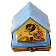 Limoges Imports Blue Bird House Limoges Box