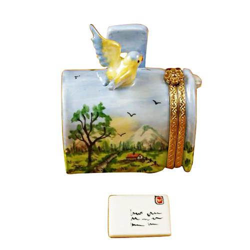 Limoges Imports Mailbox W/Bird Limoges Box