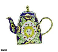EN111 Kelvin Chen Sun Face Enamel Teapot