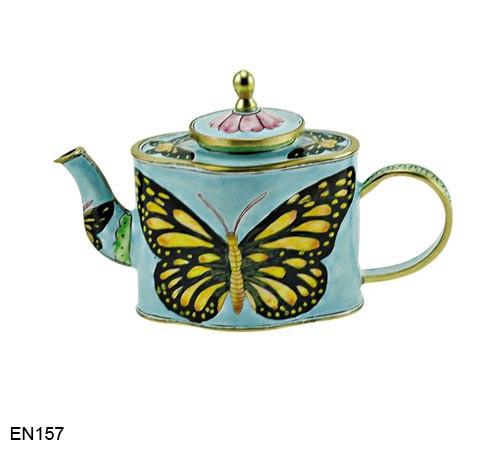 EN157 Kelvin Chen Butterfly Enamel Teapot