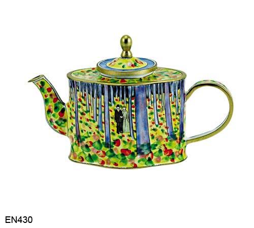EN430 Kelvin Chen Vincent Van Gogh Woods The Cincinnati Art Museum Enamel Teapot