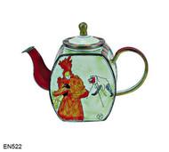 EN522 Kelvin Chen Henri de Toulouse-Lautrec The Photographer Enamel Teapot