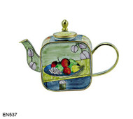 EN537 Kelvin Chen Paul Cezanne Fruit Enamel Teapot