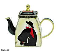 ENK409 Kelvin Chen Henri de Toulouse-Lautrec Swordsman Enamel Hinged Teapot