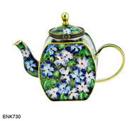 ENK730 Kelvin Chen Malva Enamel Hinged Teapot