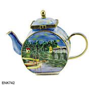 ENK742 Kelvin Chen Monet River Enamel Hinged Teapot