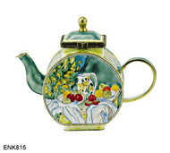 ENK815 Kelvin Chen Paul Cezanne Pitcher and Fruits Enamel Hinged Teapot