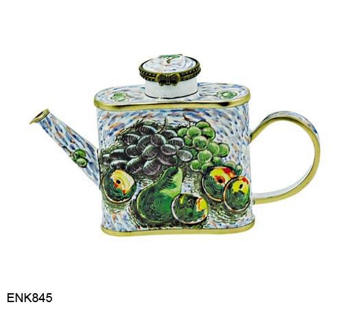 ENK845 Kelvin Chen Fruit Enamel Hinged Teapot