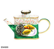 ENK855 Kelvin Chen Plate of Fruit Enamel Hinged Teapot