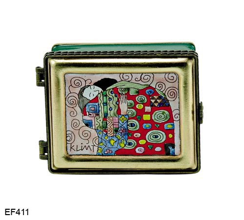 EF411 Kelvin Chen Gustav Klimt Hug Master Painting Enamel Hinged Box