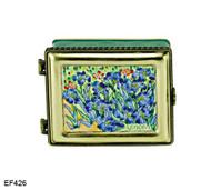 EF426 Kelvin Chen Vincent Van Gogh Irises Master Painting Enamel Hinged Box