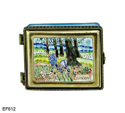 EF612 Kelvin Chen Vincent Van Gogh Digger Master Painting Enamel Hinged Box