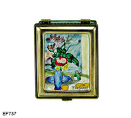 EF737 Kelvin Chen Paul Cezanne The Blue Vase Master Painting Enamel Hinged Box