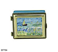 EF794 Kelvin Chen Vincent Van Gogh Seascape Master Painting Enamel Hinged Box
