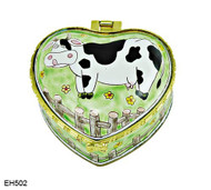 EH502 Kelvin Chen Cow Enamel Hinged Box