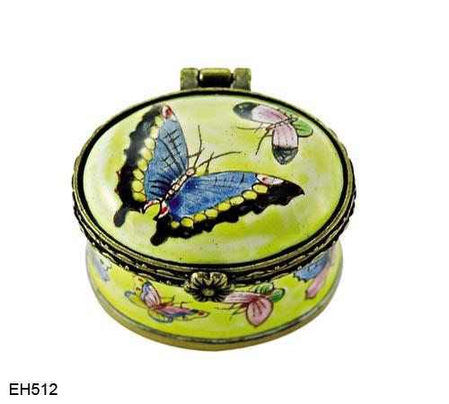 EH512 Kelvin Chen Butterfly Miniature Enamel Hinged Box