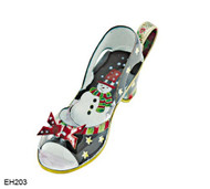EH203 Kelvin Chen Snowman Design Enamel Shoe