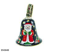 EN364B Kelvin Chen Santa Bell Enamel Ornament