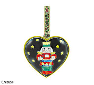 EN365H Kelvin Chen Toy Soldier Heart Enamel Ornament