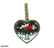 EN469H Kelvin Chen Flying Angel Heart Enamel Ornament