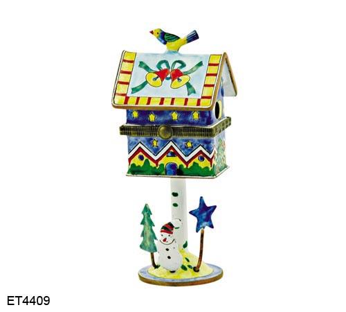 ET4409 Kelvin Chen Christmas Bells Hinged Birdhouse