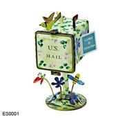 ES0001 Kelvin Chen Wild Iris Mailbox Hinged Stamp Box