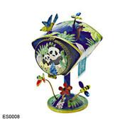 ES0008 Kelvin Chen Panda Bear Mailbox Hinged Stamp Box