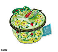 ES0021 Kelvin Chen Butterfly with Yellow Flowers Stamp Box