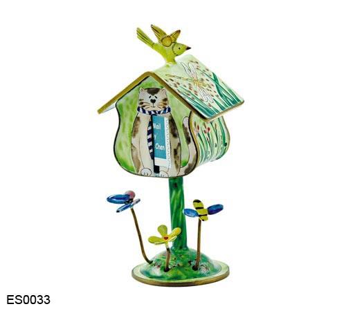 ES0033 Kelvin Chen Cats Birdhouse Stamp Box